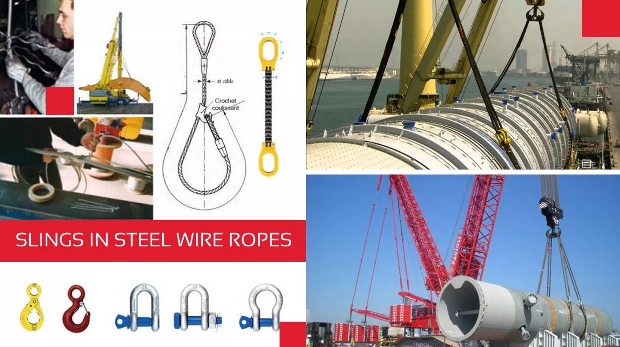 Slings in steel wire ropes